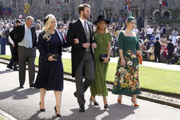 Eliza, Louis et Kitty Spencer, les neveux de Lady Di, et Victoria Aitken, son ex-belle sœur