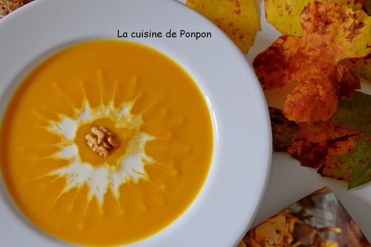 Velouté de potiron et de carotte