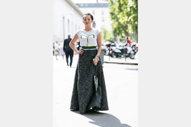 Street looks fashion week haute couture : XXL