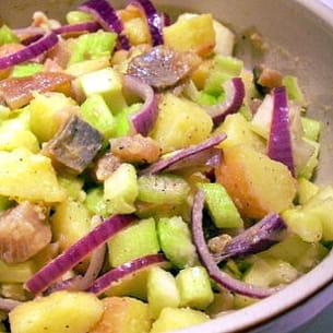 salade parmentière aux harengs et aux céleris