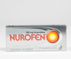 nurofen 200 mg, boîte de 20comprimés.