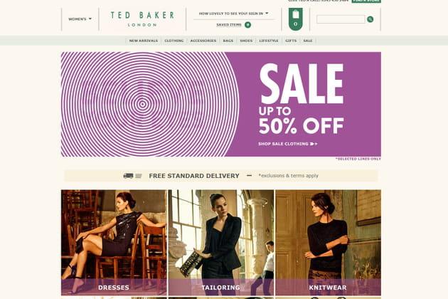 Le e-shop de Ted Baker