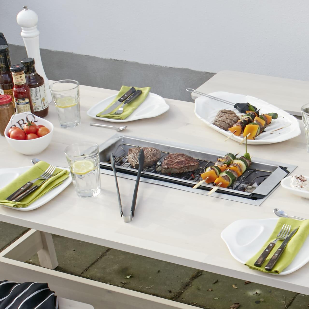 Intégré Jardin De DiyUne Table Avec Barbecue IED9WH2