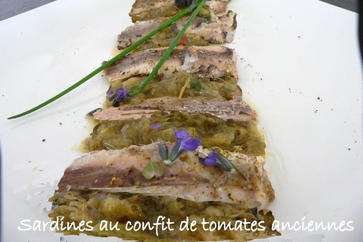 Sardines au confit de tomates anciennes