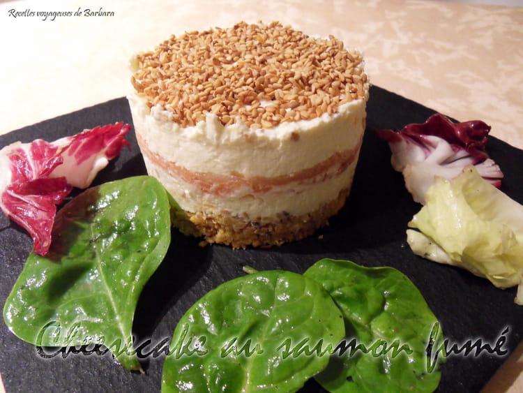 Recette de cheesecake au saumon fum tuc et parmesan la for Entree froide original