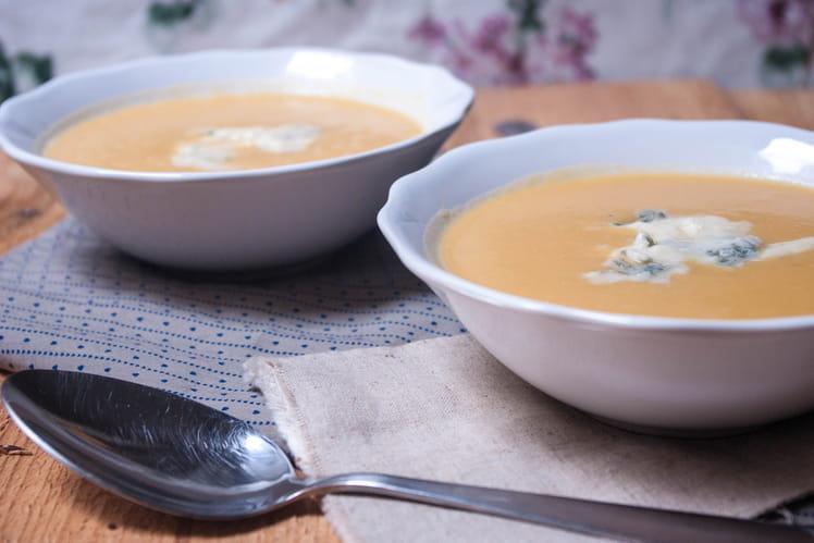 Soupe potiron et gorgonzola