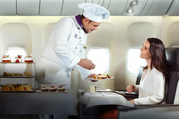 Business Class: un service digne d'un grand restaurant