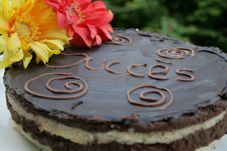 Succès au chocolat et dacquoise aux amandes