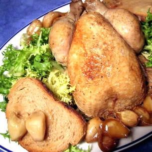 poulet aux 40 gousses d'ail