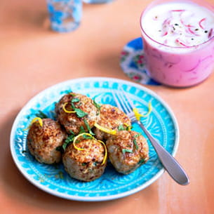 keftas de veau à la menthe, rémoulade de radis