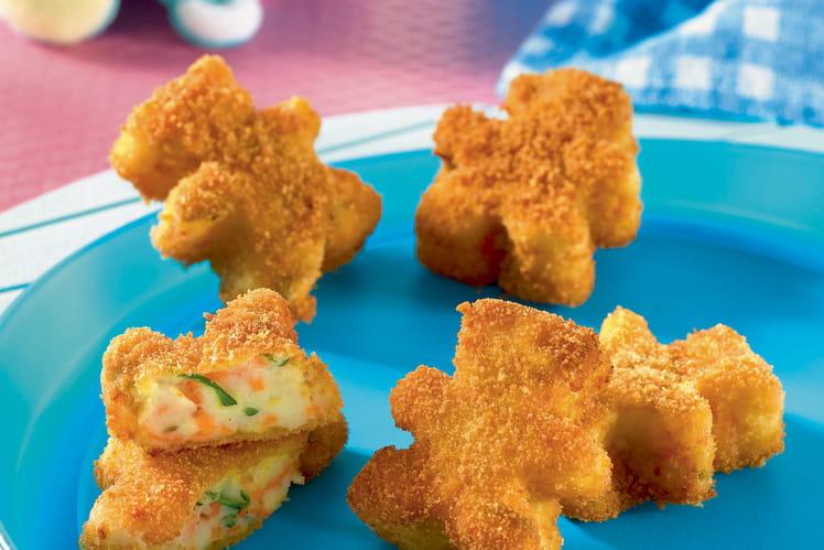 Petites galettes croustillantes courgettes-carottes