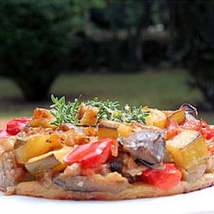 mini tarte de légumes