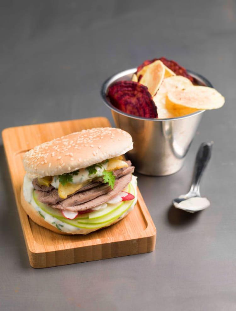 Recette de burger sucr sal de langue de boeuf la - Cuisiner langue de boeuf ...