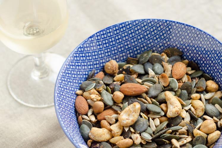 Noix et graines au shoyu