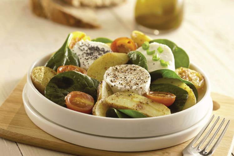 Salade de Ratte du Touquet et chèvre chaud