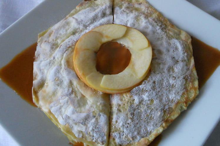 Crêpes aux pommes et au caramel