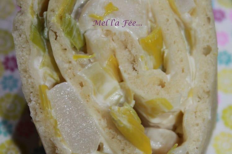 Wrap pizza Saint-Jacques et poireaux
