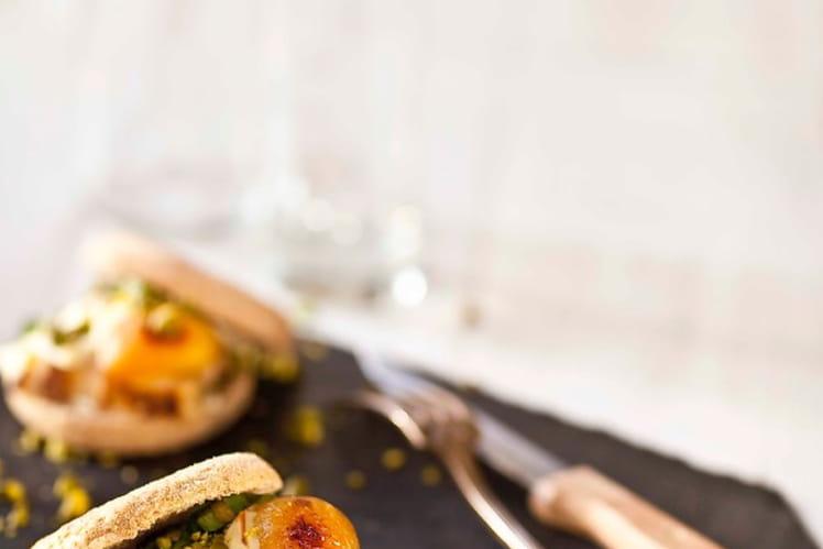 Croque&Burger, poulet et abricot