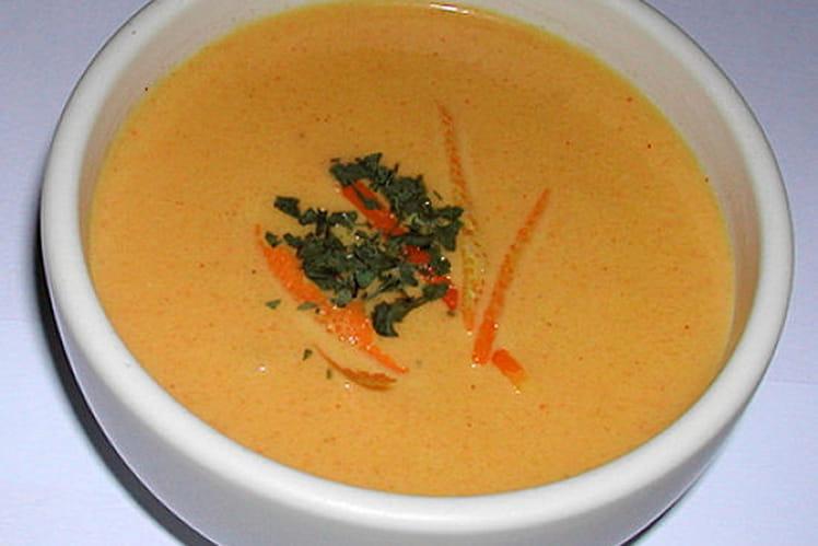 Crème de carottes curry-coco