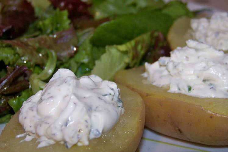 Pommes de terre au chèvre frais