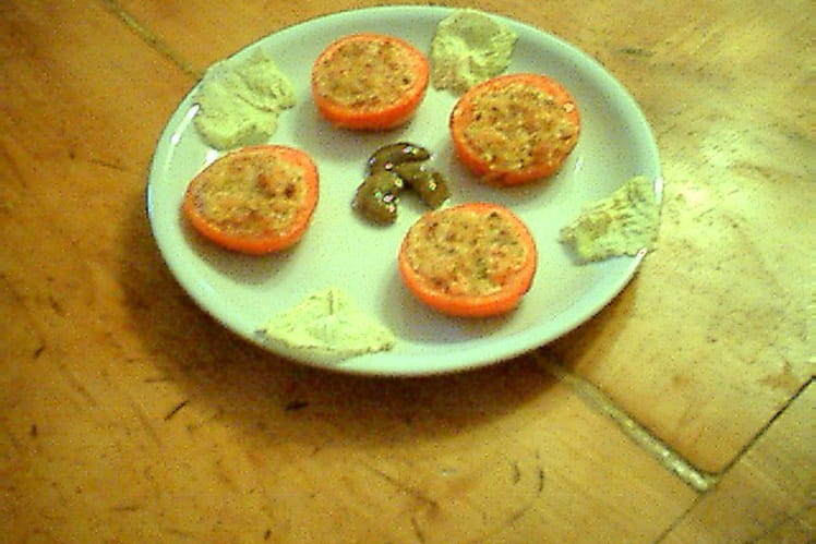 Tomates farcies au chèvre et jambon cru