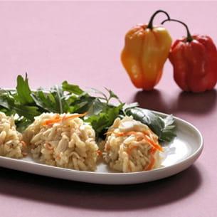 risottorride ou risotto de surimi à la cardamome