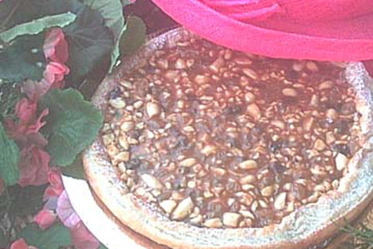 Tarte au caramel et aux fruits secs