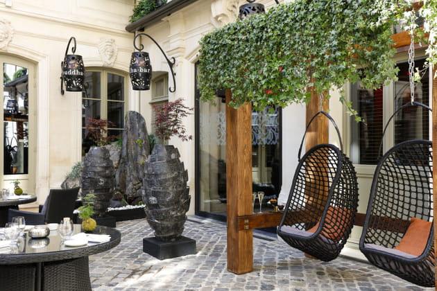 La terrasse du Buddha Bar Hôtel à Paris