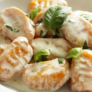 gnocchis aux carottes sauce parmesan