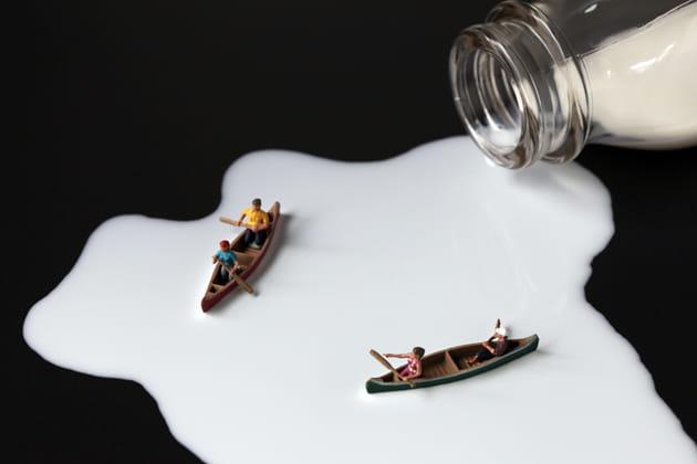 Pataugeoire de lait
