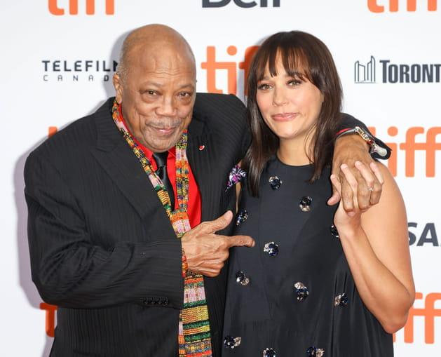 Quincy Jones et sa fille Rashida Jones