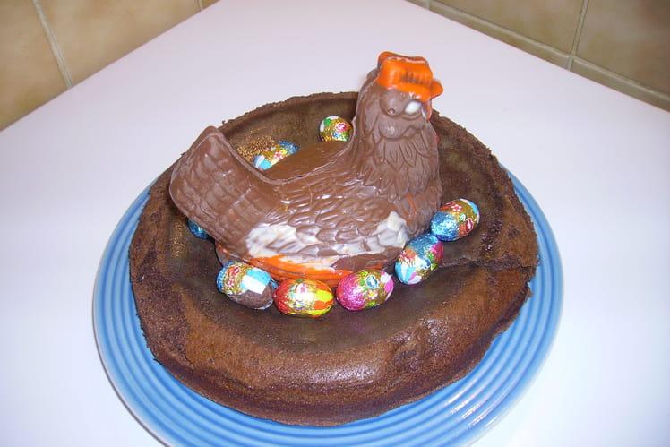 Gâteau façon nid de Pâques