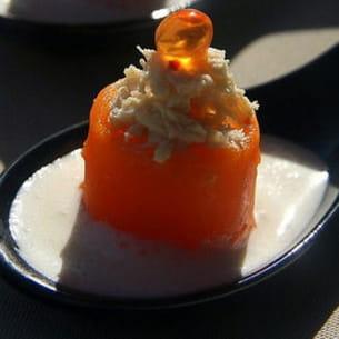 carotte et crabe au yuzu