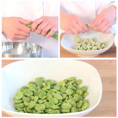 préparer les fèves