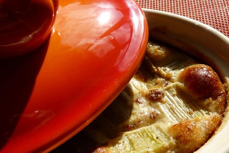 Gratin de rhubarbe et beurre de noisettes
