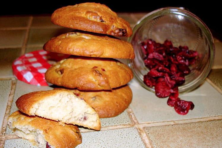 Cookies aux canneberges et chocolat blanc