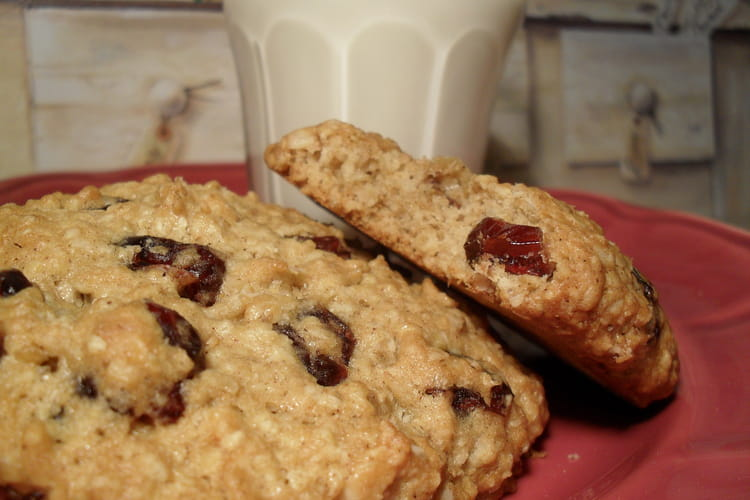 Cookies aux Flocons d'Avoine et Canneberges