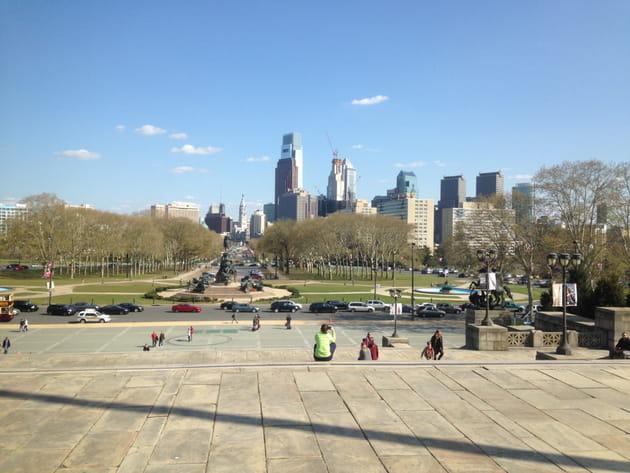 Du haut des marches du Philadelphia Museum of Art