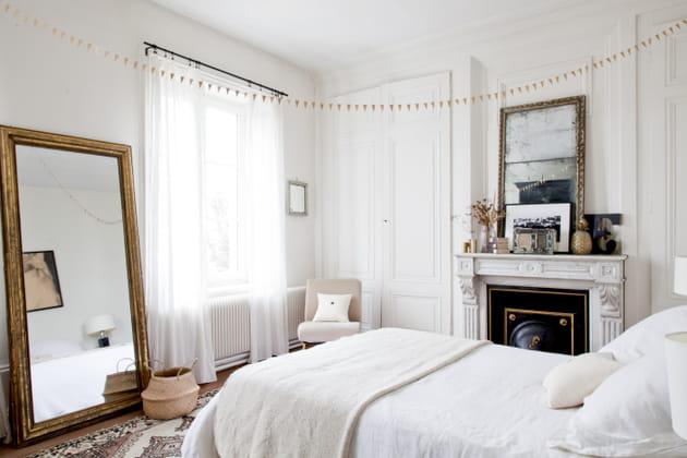 Oser le blanc pour une chambre bohème romantique