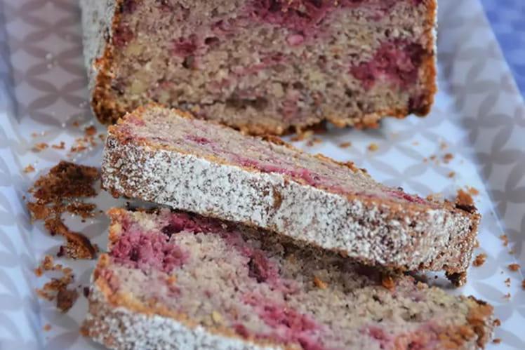 Cake framboises et noisettes