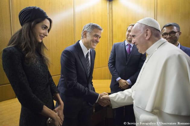George Clooney et Amal Alamuddin ont rencontré le Pape François