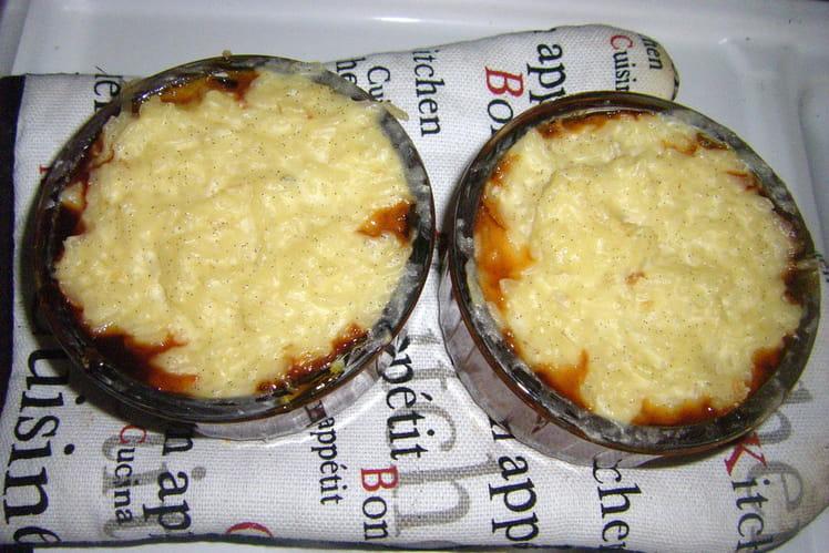 Gâteau de riz à la vanille et au caramel
