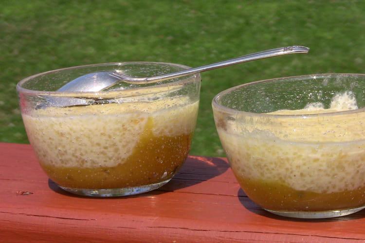 Gâteau au tapioca et à la mangue