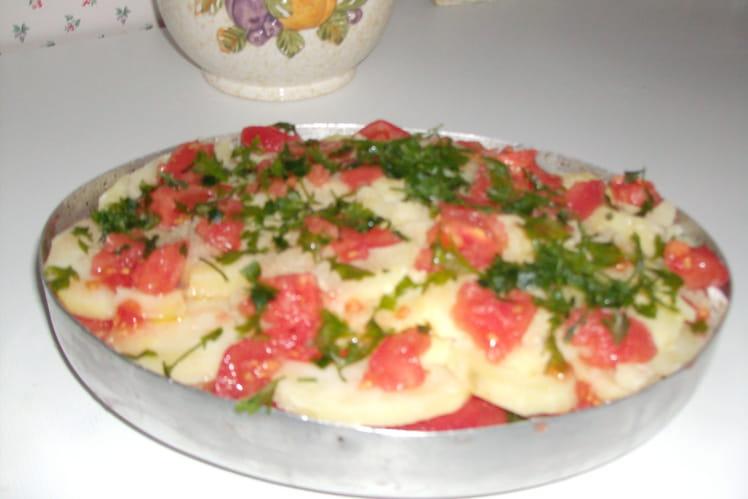 Morue pommes de terre et tomates