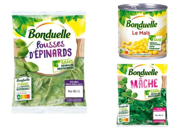 Les produits sans résidu de pesticides de Bonduelles