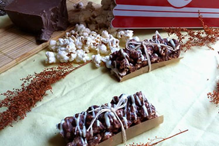Barre de pop corn chocolaté