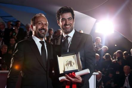 Asghar Farhadi, Prix du scénario, et Shahab Hosseini, Prix d'interprétation masculine