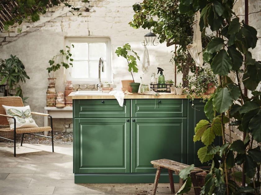 Une cuisine à la déco green