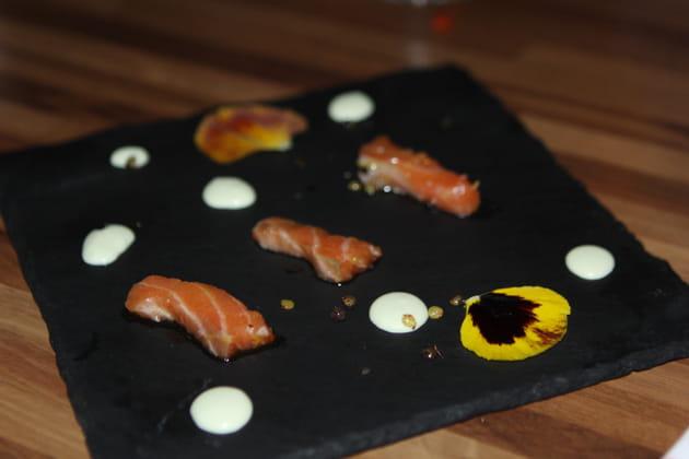 Sashimi de saumon
