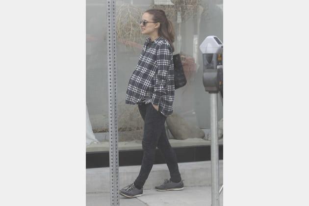 Nathalie Portman a montré son baby bump (conséquent)